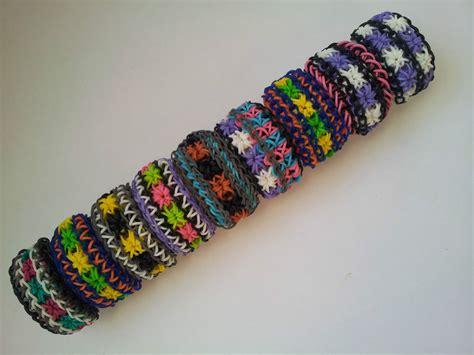 rainbow loom rubber band bracelet starburst or