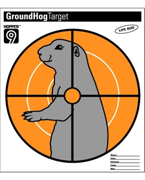 printable groundhog targets groundhog targets pinterest