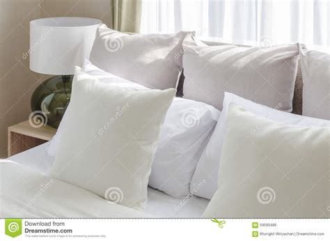 white bed pillows white pillows on bed in modern bedroom
