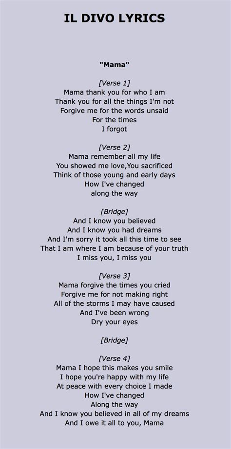 lyrics il divo il divo lyrics