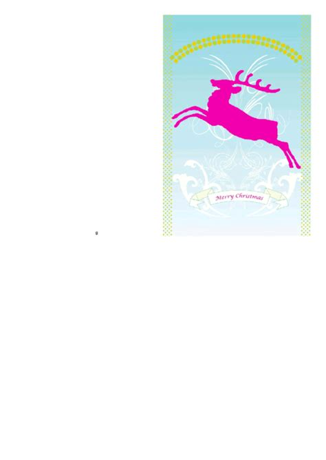 Reindeer Card Template by Top 5 Reindeer Card Templates Free To