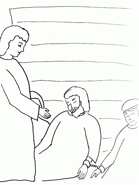 coloring pages of joseph in jail joseph in prison coloring pages coloring home