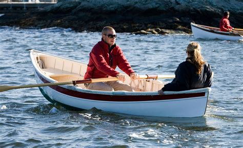 peapod boat downeast peapods traditional double ended wooden rowing