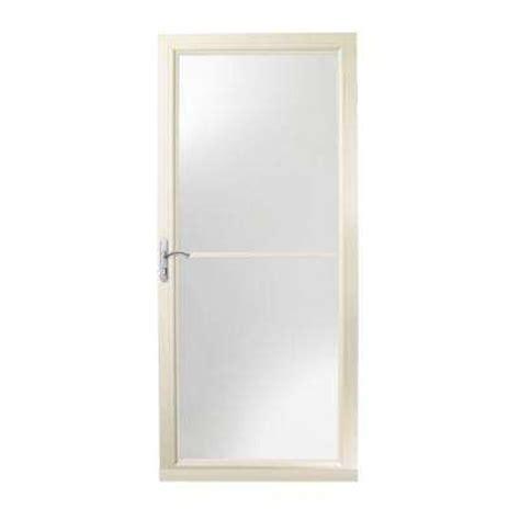 Screen Doors For Doors Home Depot by Retractable Screen Almond Doors Exterior Doors The Home Depot