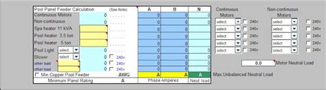 Circuit Calculation Spreadsheet by Electrical Load Calculation Excel Spreadsheet Electrical