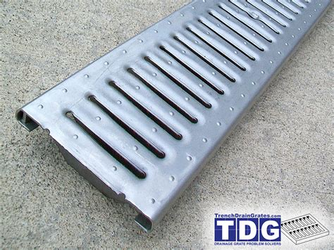 grate stainless steel 5 2 x 23 75 stainless slotted grate class c reinforced