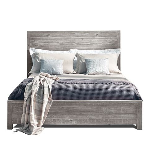 grey wood bed frame grain wood furniture montauk panel bed reviews wayfair