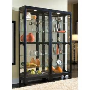 Curio Cabinet Black Finish Buy 76 In Curio Cabinet W Mirrored Back In Cheap Price On