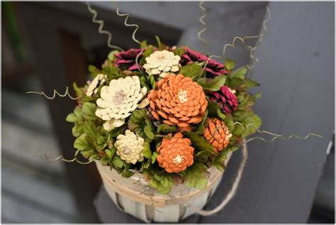 diy pinecone mums flower arrangement tutorial  west