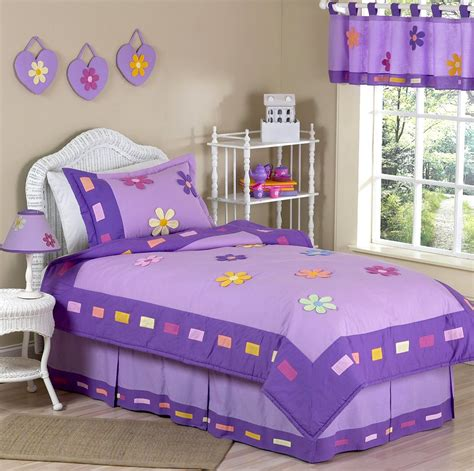 kids twin bedding purple bedding for girls twin comforter sets colorful floral daisy