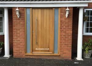 Contemporary Front Doors With Sidelights Contemporary Front Doors Oak Iroko And Other Woods Bespoke Doors