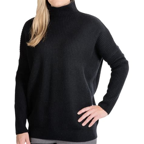 in sweater forte oversized turtleneck sweater wool for in black