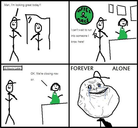 Forever Alone Know Your Meme - image 94688 forever alone know your meme