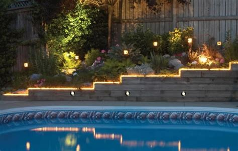 lighting around pool area pool lighting