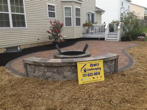 Nicolock Pit nicolock patio pit seating wall york county pa s landscaping modern other