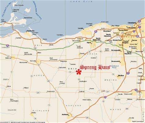wellington ohio map locating spreng haus