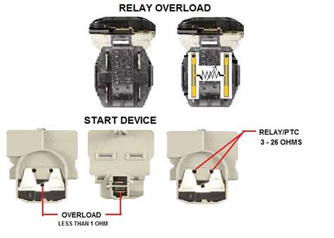 refrigerator start relay and wiring 67005560