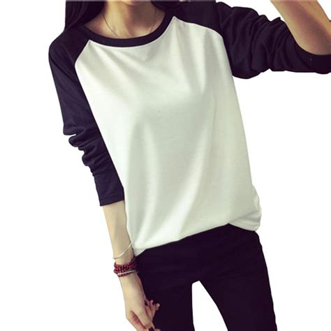 Korean Style Shirt 2015 fall korean style t shirt sweatshirt raglan