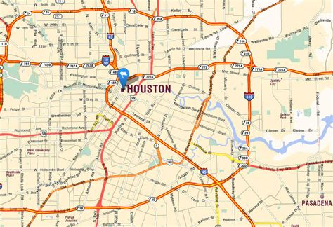 houston texas usa map houston texas map