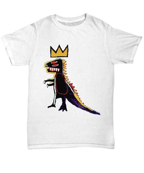 jean michelbasquiat dinosaur crown  shirt hoodie sweatshirt