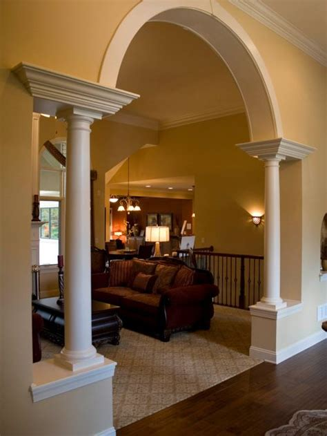 home inside arch model design image pillar arch houzz