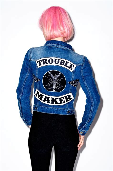 Termurah Trouble Maker Denim Jacket trouble maker denim jacket x misbehave