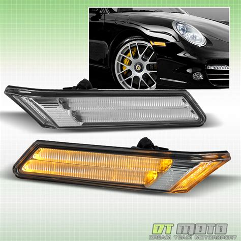 porsche 911 clear side marker lights 05 11 porsche 911 997 led side marker bumper