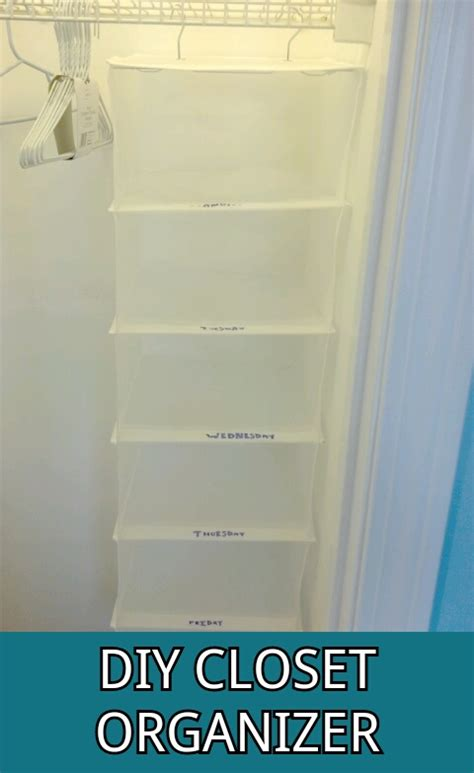 diy days of the week closet organizer the road