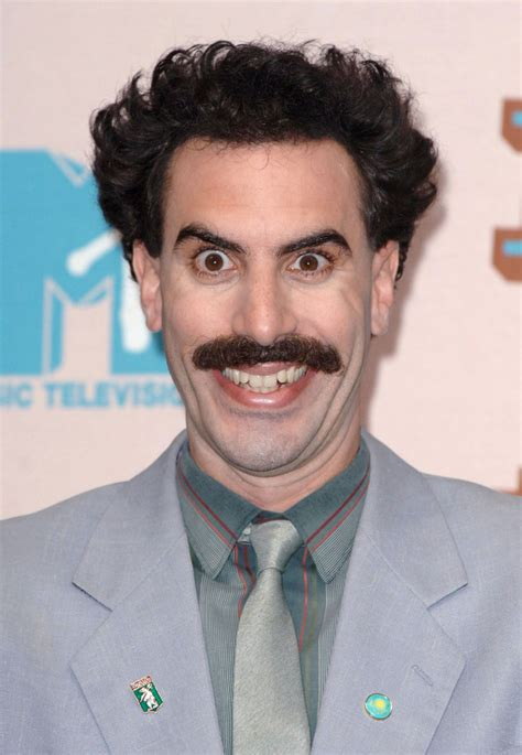 Borat A by Borat Sacha Baron Cohen Moustaches For Movember