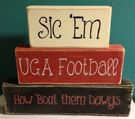 georgia bulldog home decor uga georgia bulldogs football go dawgs hand crafted hand