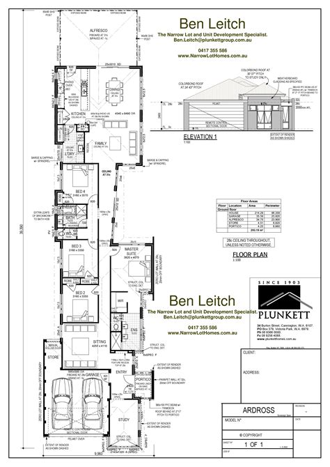 Narrow Lot House Plan by Narrow Lot House Plans Single Storey Narrow Lot Homes