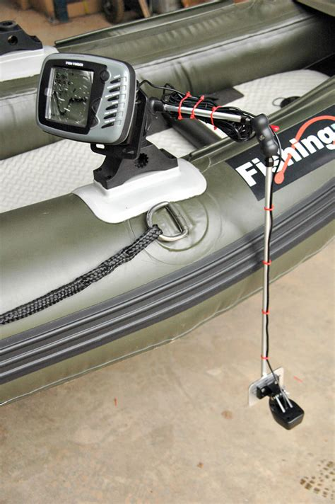 inflatable boat fish finder mount new bison marine float tube or inflatable accessory mount