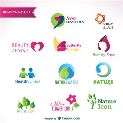 attractive logo design templates beautiful logos templates vector free