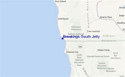 map of brookings oregon brookings south jetty surf forecast and surf reports