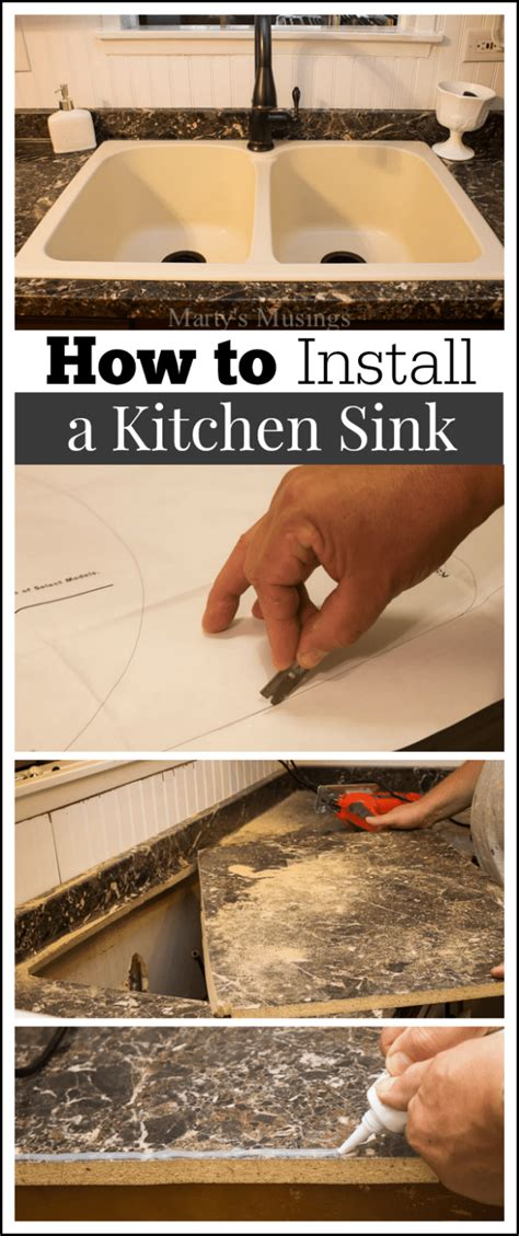 installing a kitchen sink how to install a kitchen sink