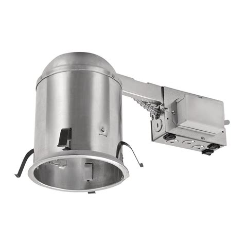 Halo H573 5 In Aluminum Cfl Recessed Lighting Housing For Recessed Lighting Insulated Ceiling