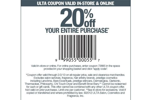 printable ulta coupon 20 off entire purchase nordstrom coupon printable bourseauxkamas com