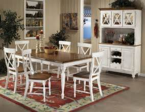 warm oak white two tone finish modern dining table w options