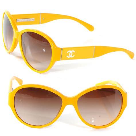yellow sunglasses chanel cc logo sunglasses yellow 5229q 52304