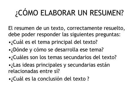 En Resumen by Ejemplos De Resumen
