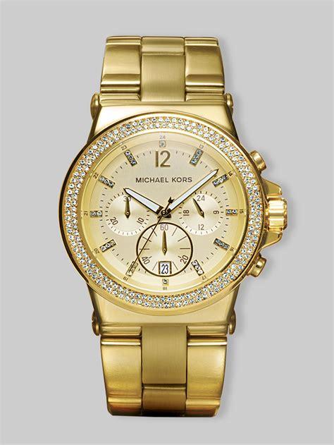 Michael Kors Chronograph michael kors bezel chronograph watchgold in gold lyst