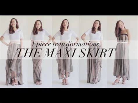 different ways to wear a maxi skirt images style