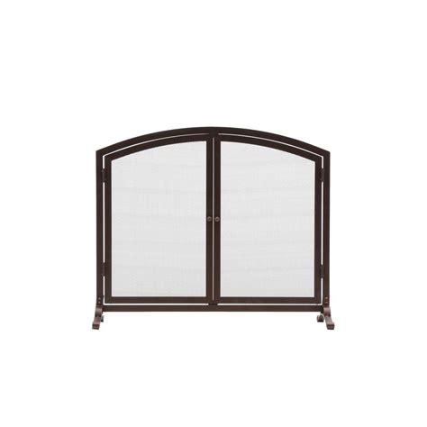 Fireplace Screens Home Depot by Home Decorators Collection Emberly Brown 1 Panel Fireplace
