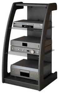 Small Audio Component Cabinet Sonax Milan Black Three Shelf Component Stand