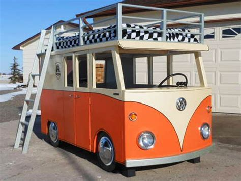 bus bed groovy up your bedtime with this vw bus bed