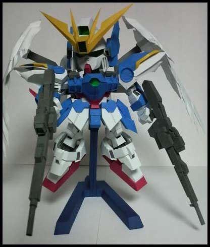 Papercraft Gundam - sd wing gundam zero papercraft paperkraft net free