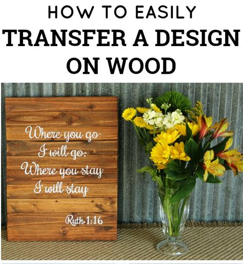 holiday shopping guide farmhouse style knick of time how to easily transfer a design on a wood sign by knick of