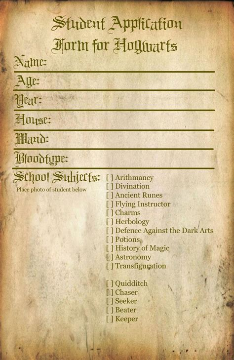 Blank Harry Potter Acceptance Letter Hogwarts Student Application By Bonnieandclydeproduc On Deviantart