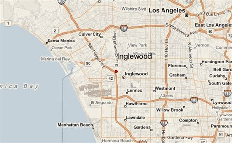 inglewood california map inglewood location guide