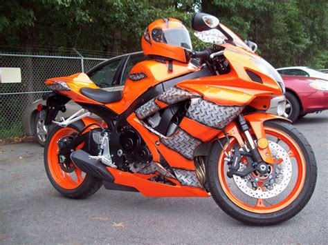 orange motocross airbrush innovation custom motorcycle paint
